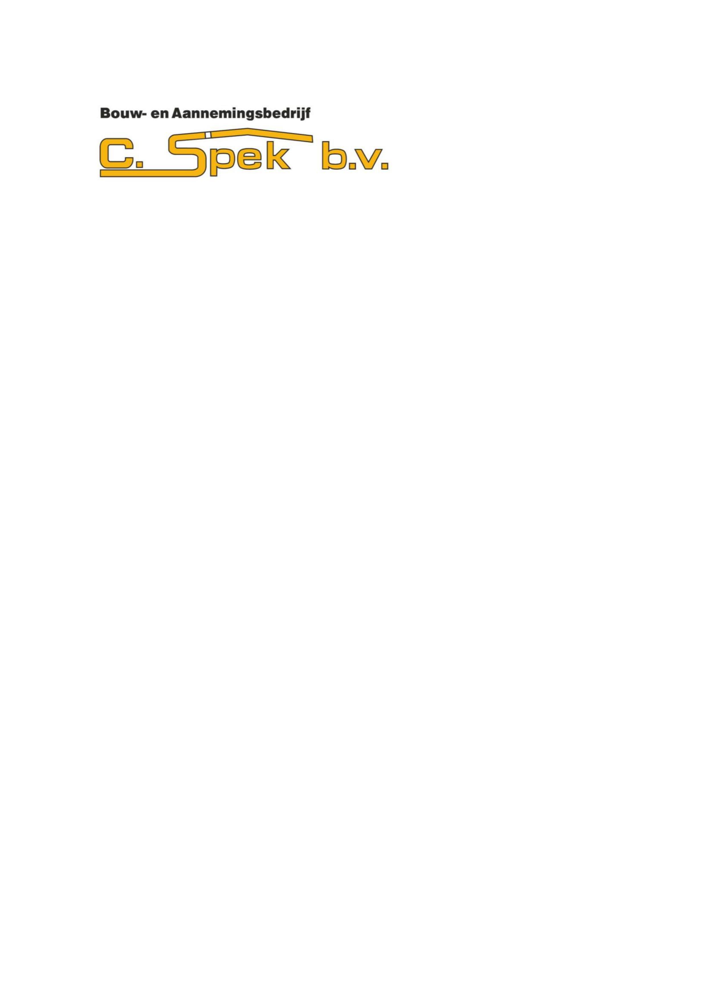Bouw- en aannemingsbedrijf C. Spek B.V.